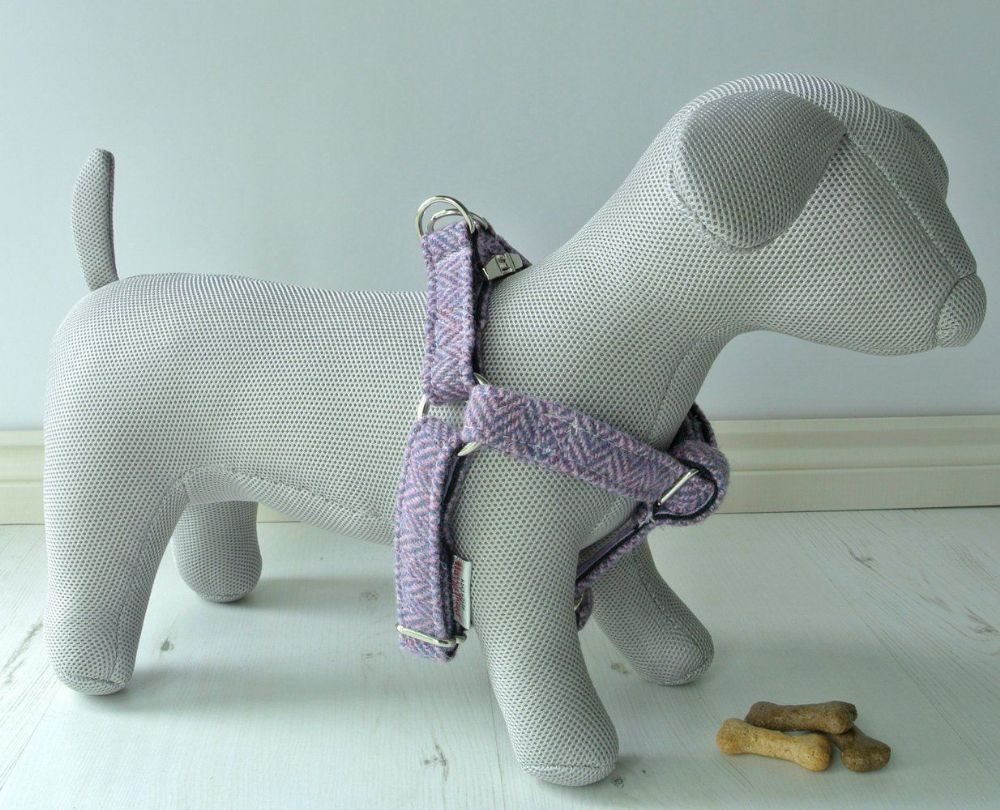 Harris Tweed Dog  step in Harness